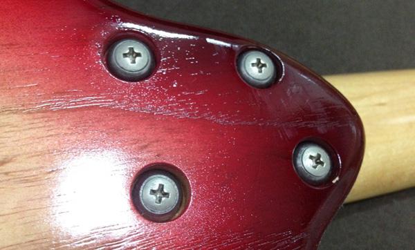 エレキギターデタッチャブルモデルプレート無しのネックセット