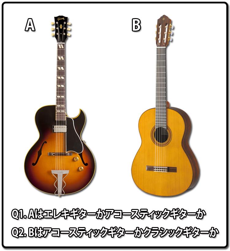 エレキギター・アコギ・クラシックギタークイズ