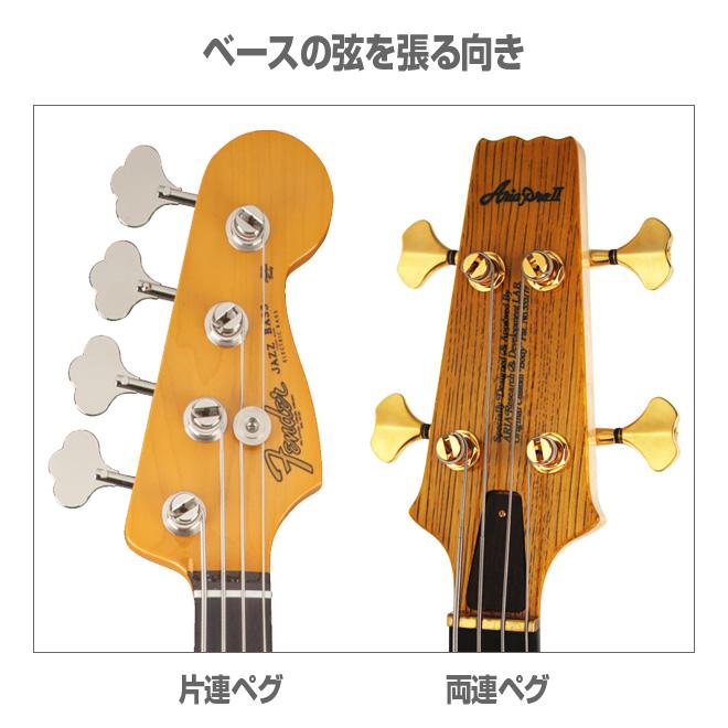 ベースの弦交換-弦を巻く方向