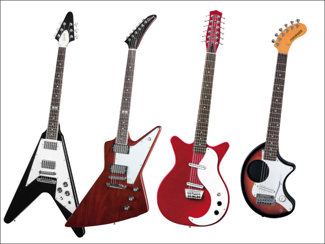 あまり一般的ではないエレキギター(変形・12弦・ミニギター)