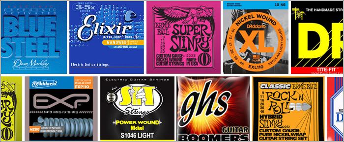 色々なメーカー・ブランドのエレキギター弦・選び方