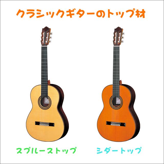 クラシックギターのトップ材