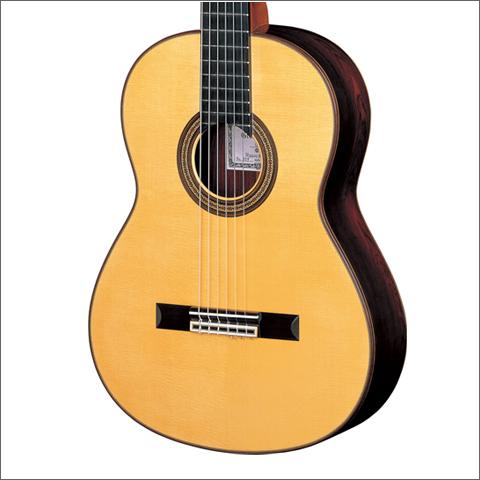 クラシックギタースプルーストップ材