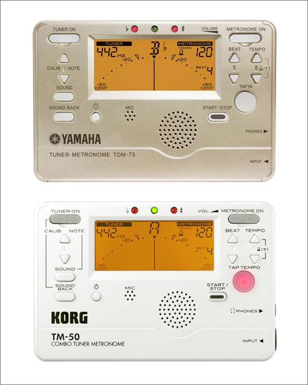 楽器業界OEMの例_YAMAHA_TDM-75とKORG_TM-50シリーズ