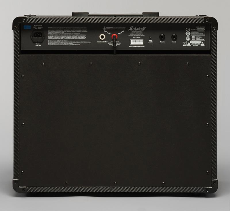 密閉型ギターアンプ Marshall MG101CFXの裏